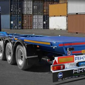HIGH CUBE CONTAINER CARRIER SKELETAL SEMI-TRAILERS