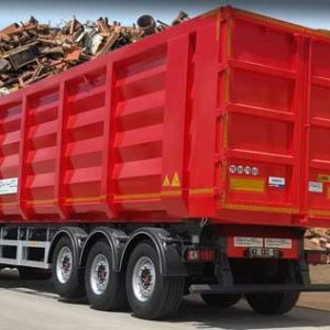 scrap metal tipper dump semi trailer